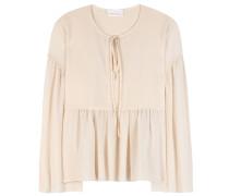 Bluse aus Baumwoll-Seidengemisch