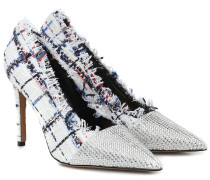 Pumps Michelle Fringe aus Tweed