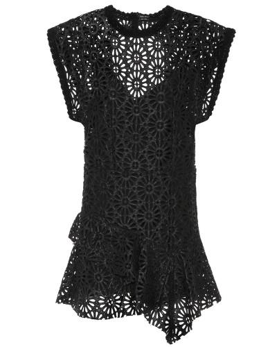 Minikleid aus Lederimitat
