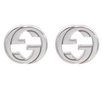 Ohrringe Interlocking G aus Sterlingsilber