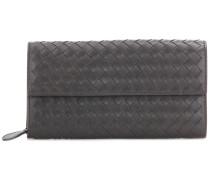 Portemonnaie aus Intrecciato-Leder