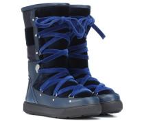 Stiefel aus Leder mit Samt