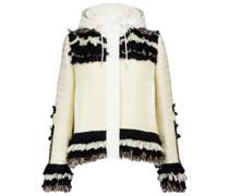 Kapuzenjacke aus Tweed