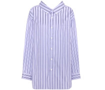 Gestreiftes Hemd Swing Collar aus Baumwolle