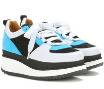 Plateau-Sneakers Naomi aus Veloursleder