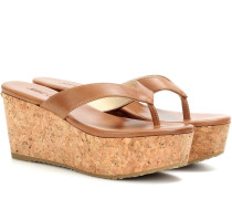 Wedge-Sandalen Paque 70 aus Leder