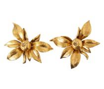 Florale Clip-Ohrringe