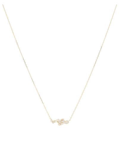 Halskette aus 18kt Gelbgold mit Diamanten