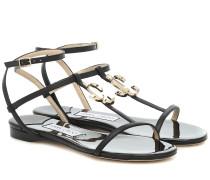 Sandalen Alodie Flat aus Leder