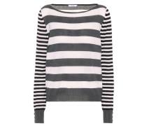 Gestreifter Pullover Marica aus Seide und Cashmere