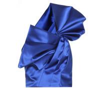 One-Shoulder-Oberteil aus Seidensatin