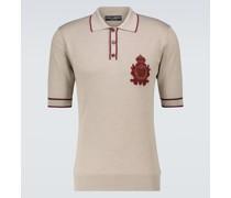 Besticktes Poloshirt aus Seide