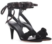Sandaletten Akynn aus Glatt- und Veloursleder
