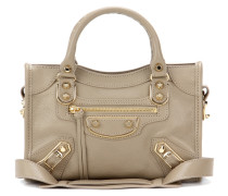 Tasche Classic Metallic Edge Mini City aus Leder