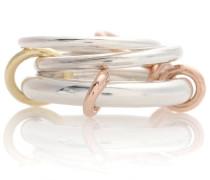 Ring Orion aus 18kt Rosé- und Gelbgold und Sterlingsilber