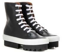 Plateau-Boots aus Leder