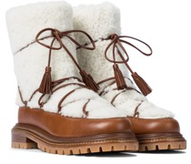 Ankle Boots mit Shearling