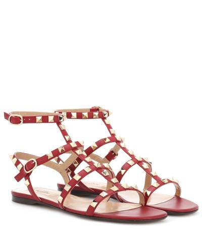 Valentino Damen Garavani Sandalen Rockstud aus Leder
