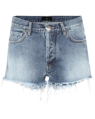 Verzierte Mid-Rise Jeansshorts