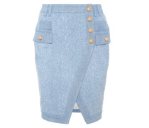 Minirock aus Denim-Tweed