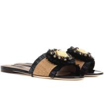 Sandalen aus Bast und Leder