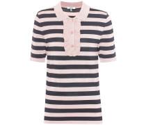 Gestreiftes T-Shirt mit Rüschen