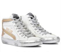 Sneakers Slide aus Leder