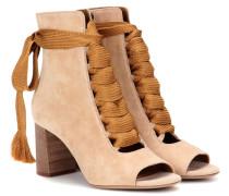 Ankle Boots Harper aus Veloursleder