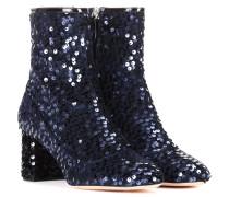 Ankle Boots mit Pailletten