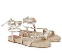 Espadrille-Sandalen Pilar aus Leder