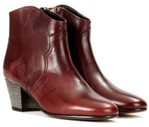 Dicker Ankle Boots aus Leder