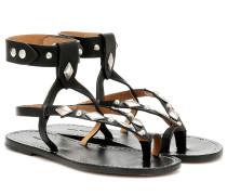 Sandalen Lozenge aus Leder