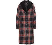 mytheresa.com exklusiv Tweed-Mantel mit Pelzkragen