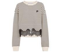 Pullover aus Baumwolle und Spitze