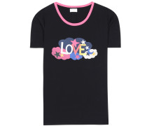 T-Shirt aus Baumwolle mit Love-Print