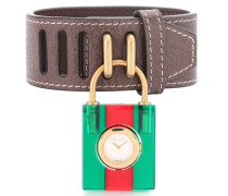 Uhr Padlock aus Leder