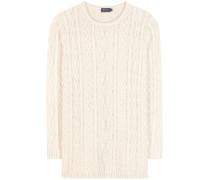 Pullover mit Zopfmuster aus einem Baumwollgemisch