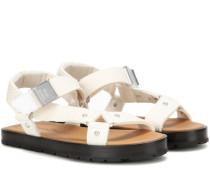 Sandalen Ester aus Baumwollcanvas