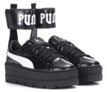 Sneakers Ankle Strap aus Leder