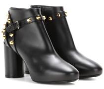 Anklebooties aus Leder