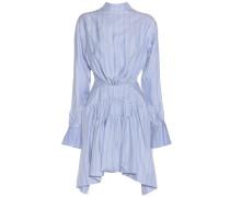 Gestreiftes Kleid aus Seide