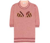 Pullover aus Wolle und Metallic-Garn