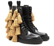 Verzierte Boots Aster Tassel aus Leder