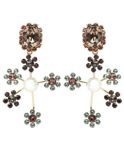 Clip-Ohrringe mit Kristallen