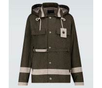 Jacke aus Baumwolle mit Gürtel