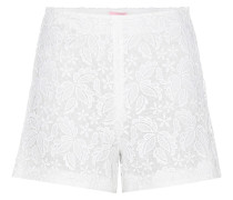 Shorts aus Makramee-Spitze
