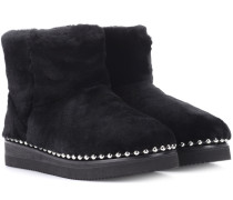 Ankle Boots mit Fell