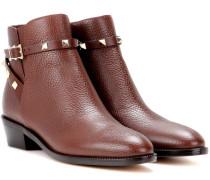 Garavani Ankle Boots Rockstud aus Leder