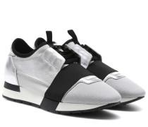 Sneakers Race Runner aus Metallic-Leder