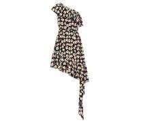 Bedrucktes Minikleid aus Seide
